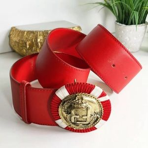 Fendi Authentic Vintage Red FF Logo Buckle Belt 🔥